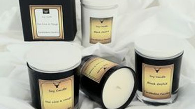 Luxury soy candle with lid. Boxed