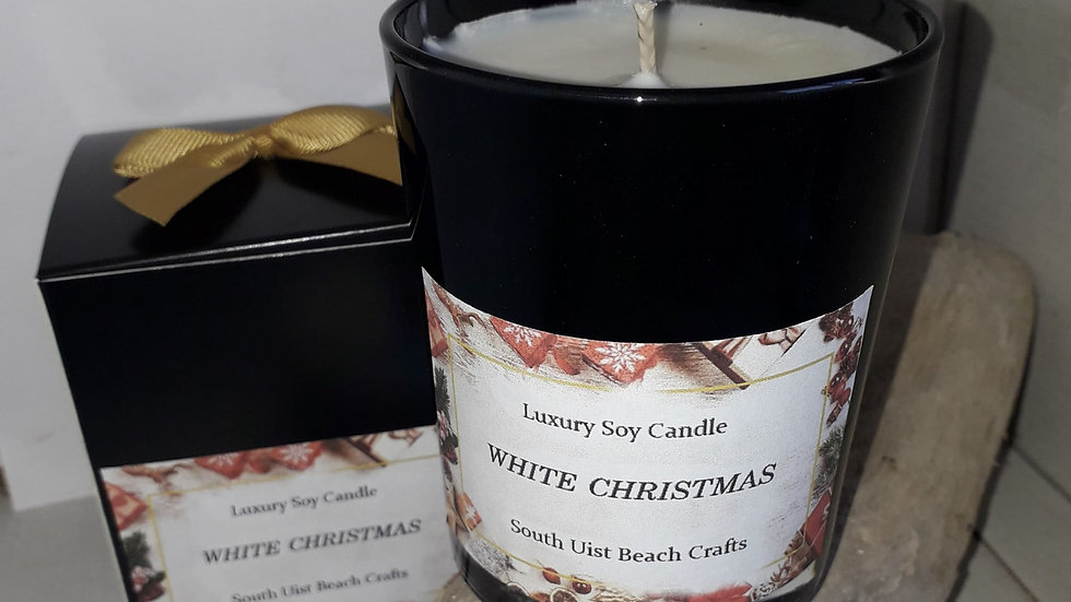White Christmas candle   SOLD OUT