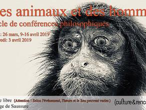 Des animaux et des hommes : conférences et débat à Genève
