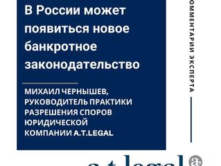 В РОССИИ МОЖЕТ ПОЯВИТЬСЯ НОВОЕ БАНКРОТНОЕ ЗАКОНОДАТЕЛЬСТВО