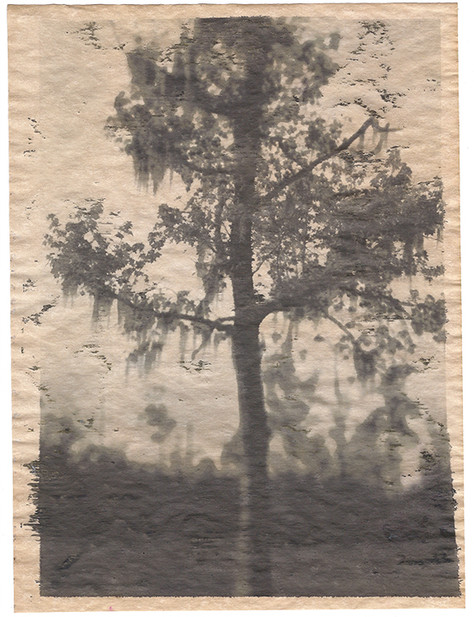 Alternative Inkjet Print on Antique Parchment Paper 2014