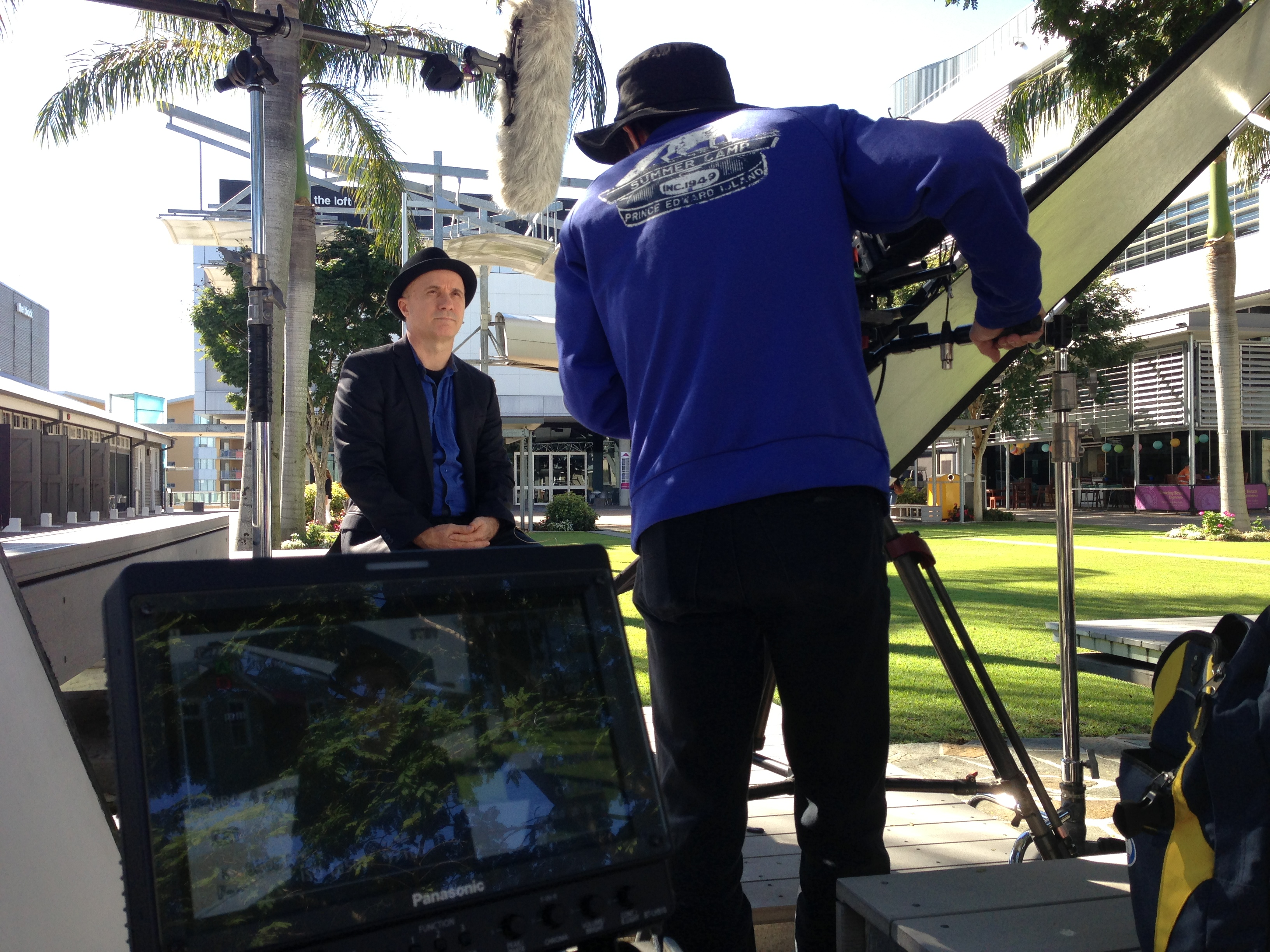 QUT corporate broadcast television production camera xdcam cameraman trevor smit