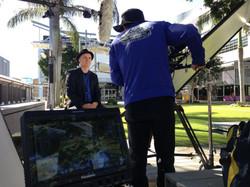 QUT corporate broadcast television production camera xdcam cameraman trevor smit