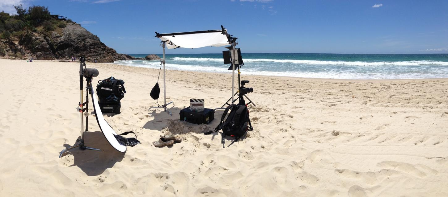 freelance sound recordist marty fay audio camera gear beach gold coast queenslan