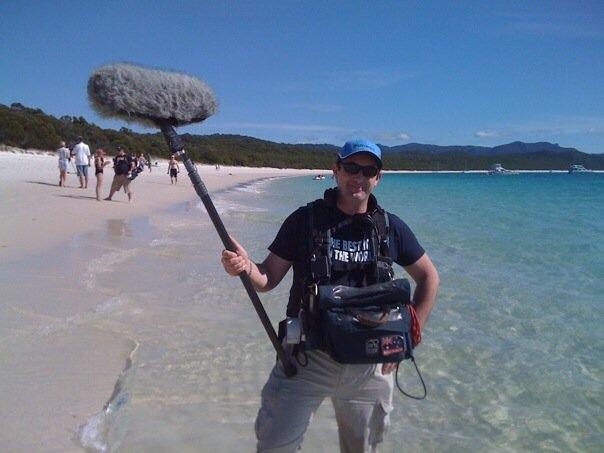freelance sound recordist marty fay location mission beach queensland australia
