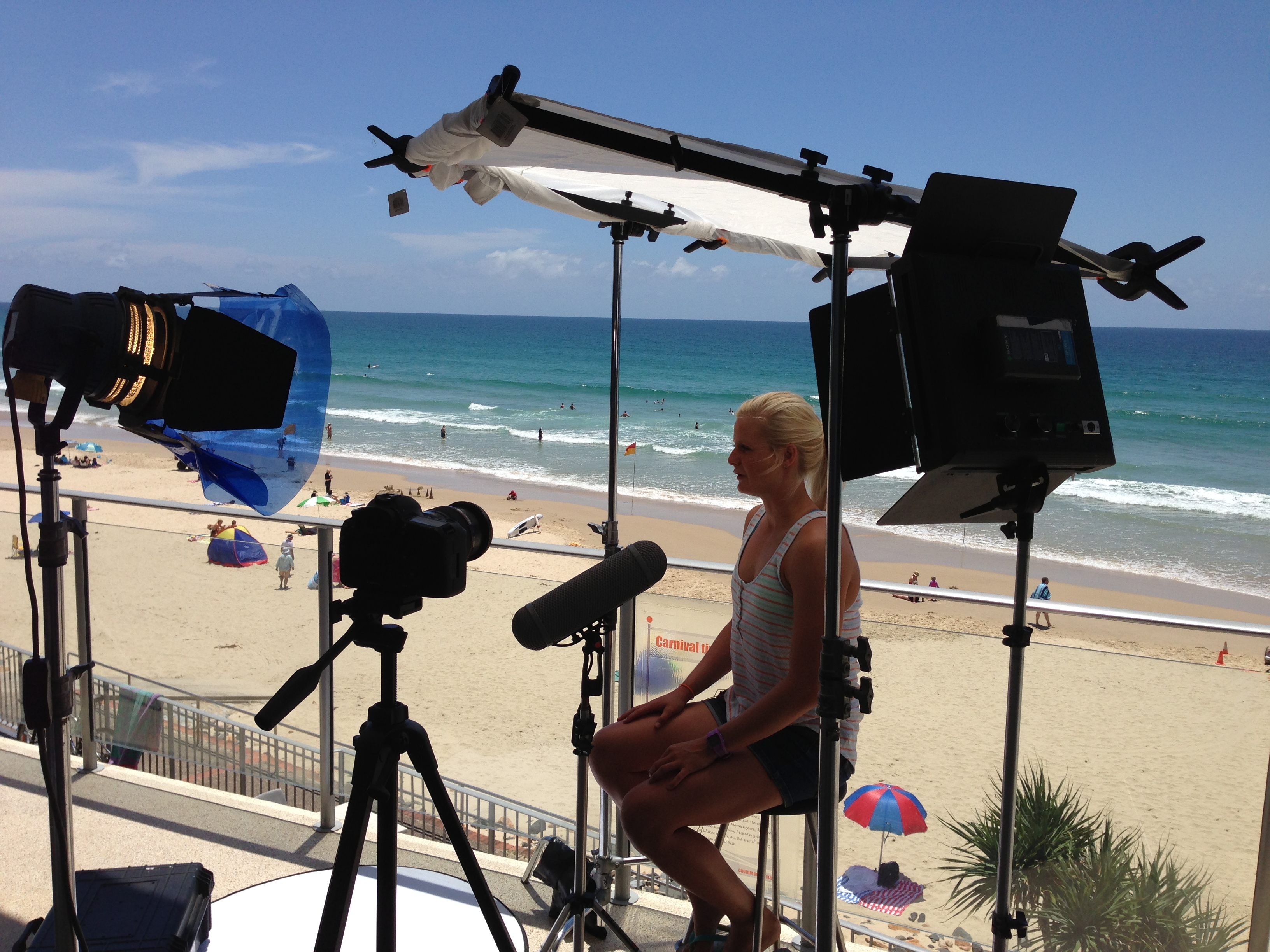 freelance sound recordist marty fay red epic shoot queensland sunshine coast bea