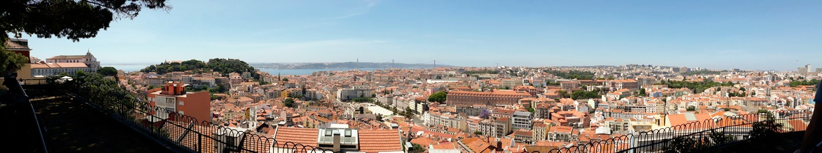 Lisbon from Senhora do Monte viewpoint