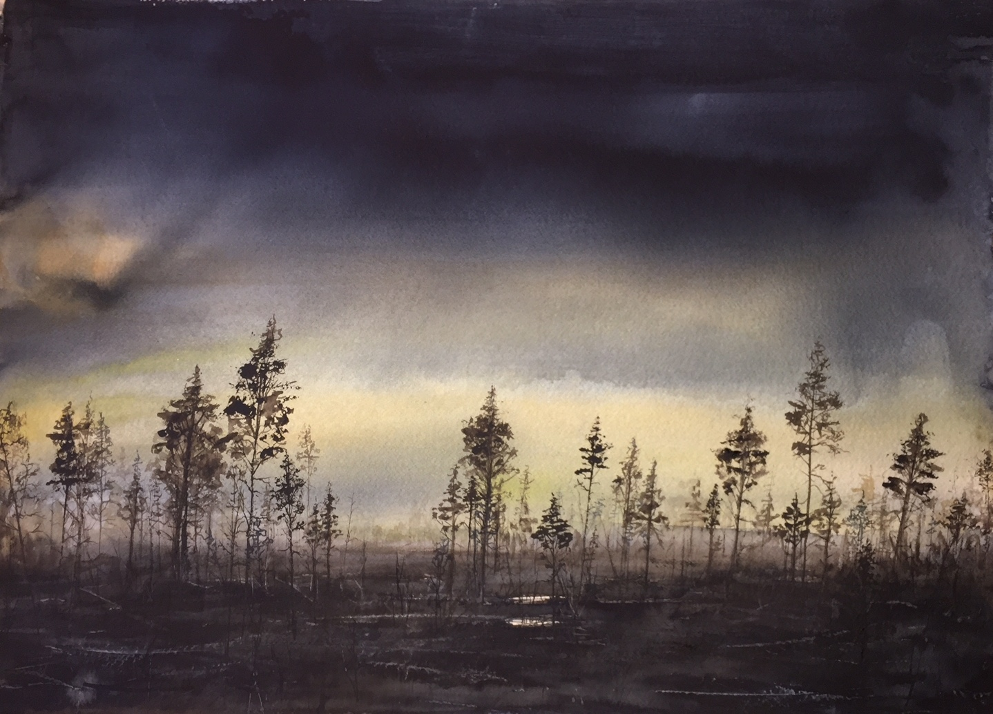 Skymning i skogen (Såld)