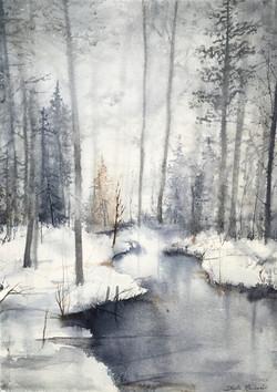 Snölandskap (Såld)