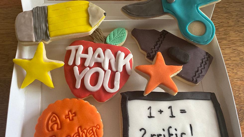 Thank You Teacher Cookie Boxes