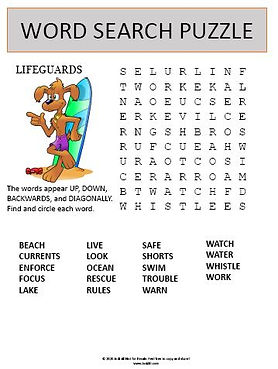 Lifeguard Word Search