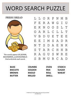 Fresh Bread word search
