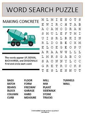Making Concrete Word Search