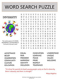 Diversity Word Search