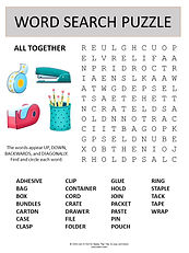All together word search puzzle for kids