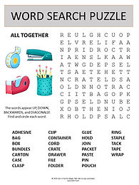 All Together word search