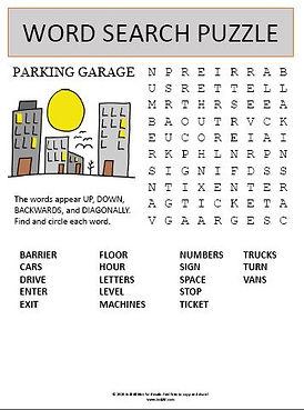 Parking Garage Word Search