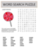 Candy Making Word Search