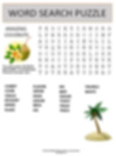 Coconut Word Search