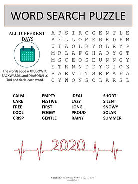 Different Days word search