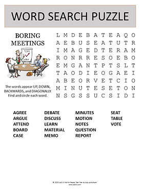 Meetings word search