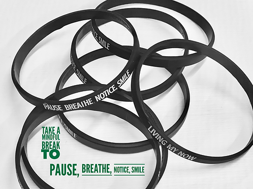 Take a Mindful Break  to Pause, Breathe, Notice and Smile Bracelets