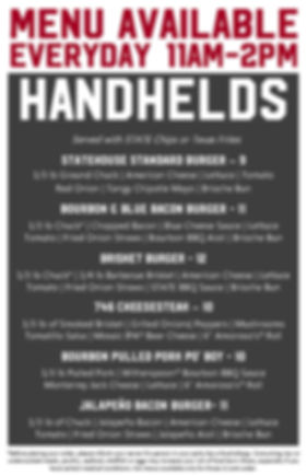 State Draft House Lunch Menu 2019