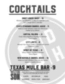 State Draft House Cocktail Menu
