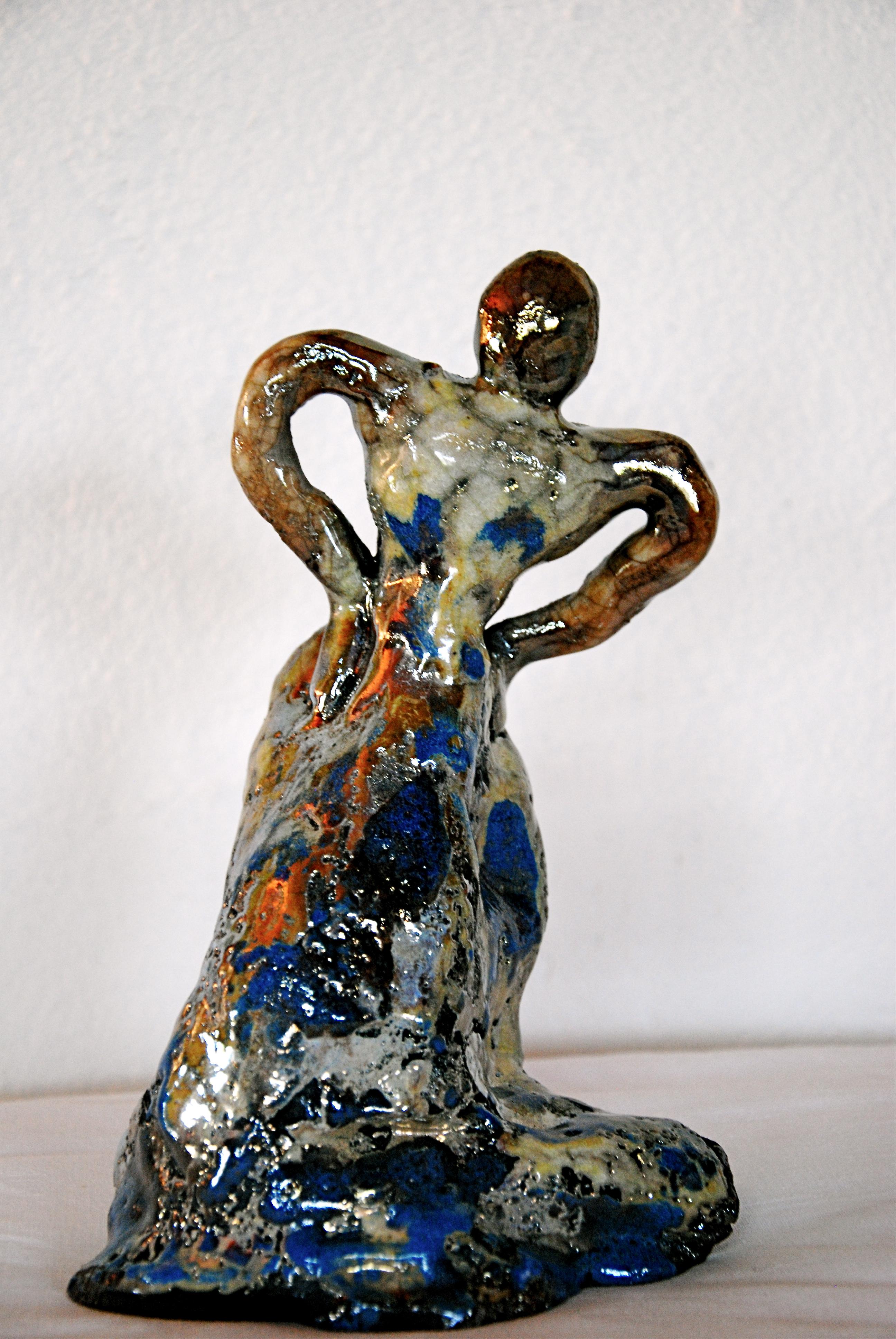 23 cm RAKU - Pièce unique - €180