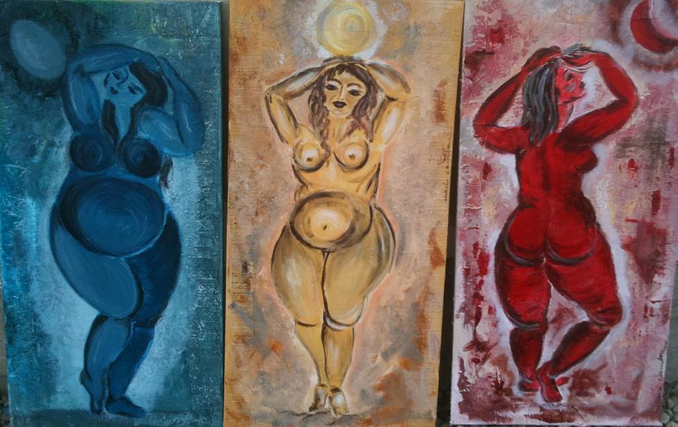 Les Femmes Lune - Triptyque - €900