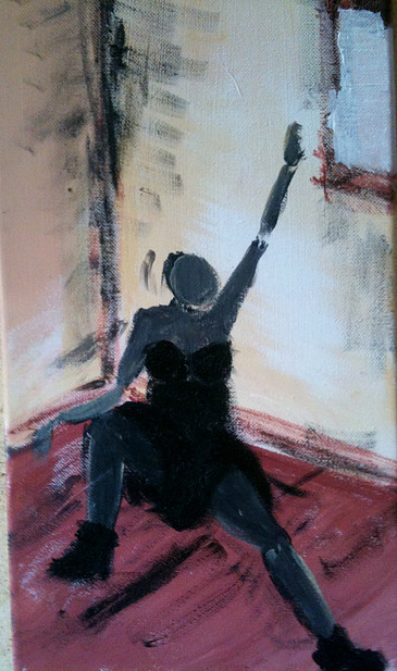 Femme assise - 20x40 - €80