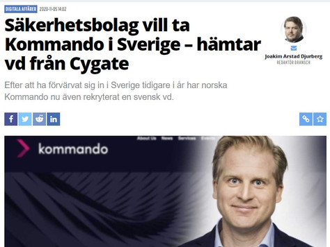 New CEO of Kommando Sweden Onboard!