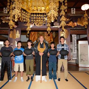都内の中学校の生徒さんが山寺修行で当山を訪れました。