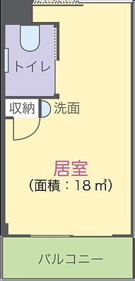 岡山県総社市の住宅型老人ホームケアヴィレッジ総社 居室平面図