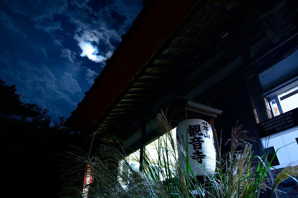 夜の観音寺本堂