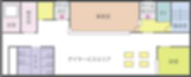 岡山県総社市の住宅型老人ホームケアヴィレッジ総社 1階平面図