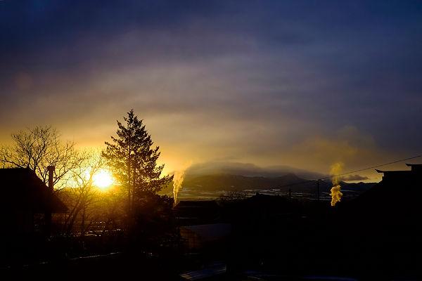 早朝の風景