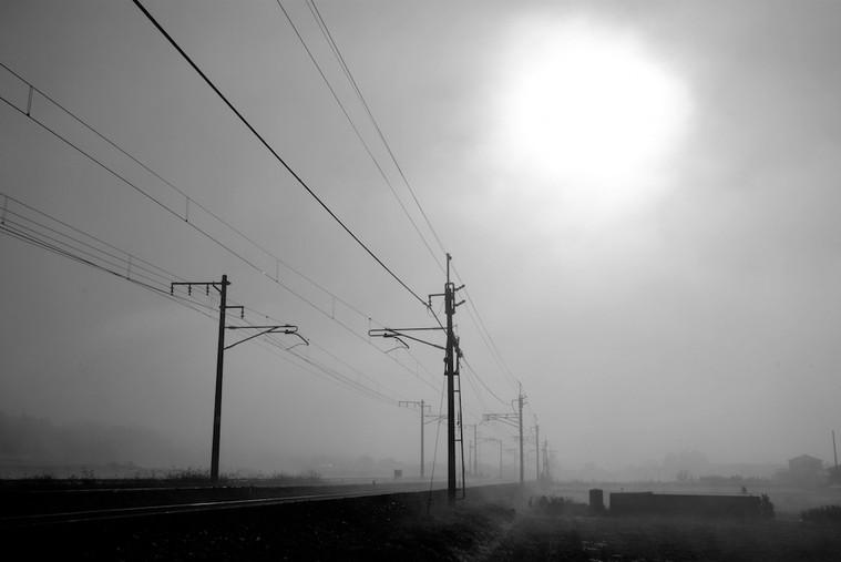 早朝の線路