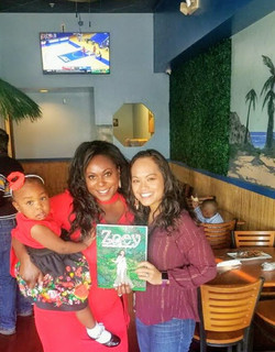 Book siging with family