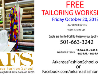 Free Tailoring Workshop This October