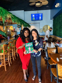 Book signing with Madhu
