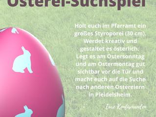Mach mit beim Ostereiersuchspiel an Ostern!