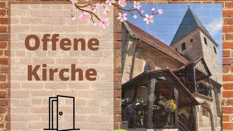 Offene Kirche dienstags & freitags 16.-18.00 Uhr