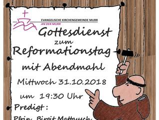 Gottesdienst am Reformationstag 31.10.2018 in Murr