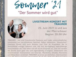 Konzert von Traginer am Freitag, 25. Juni um 20 Uhr live  in der Pfarrscheuer und über Youtube