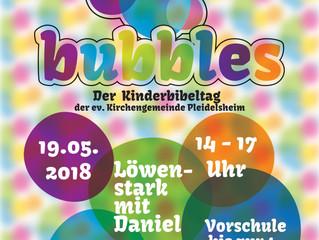 Kinderbibeltag Bubbles am Samstag im Gemeindehaus