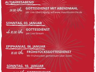 Gottesdienste im neuen Jahr!