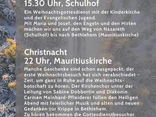 Weihnachten unterwegs und Christnacht an Heiligabend in Pleidelsheim