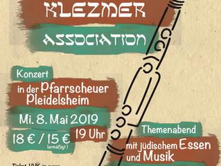 Die Jerusalemer Klezmer Association kommt wieder nach Pleidelsheim in unsere Pfarrscheuer!