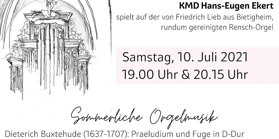 Sommerliche Orgelmusik mit KMD Hans-Eugen Ekert